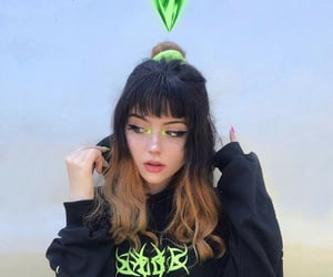 aesthetic, green, and make up image