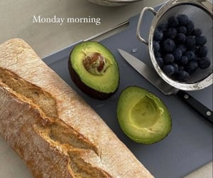 avocado, berry, and bread image