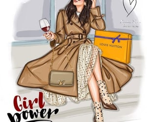 chic, fashion illustration, and girl power image