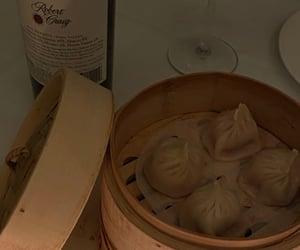 wine, aesthetic, and dumplings image
