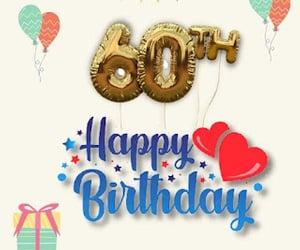 60th birthday wishes, happy birthday, and birthday wishes image