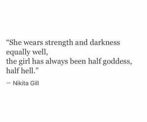poetry, nikita gill, and half hell image