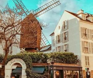 montmartre, stores, and paris image