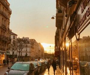 paris, por do sol, and stores image