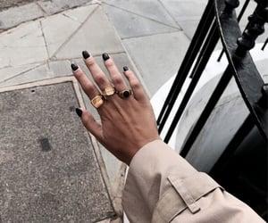 fall, nails, and rings image