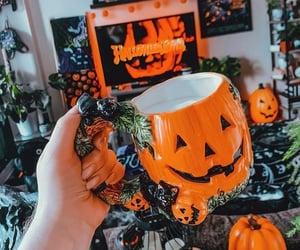 candles, mug, and halloween town image