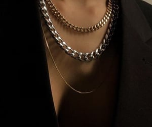 chain, fashion, and gold image