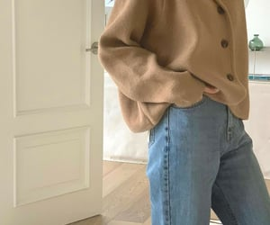 beige, cardigan, and fashion image