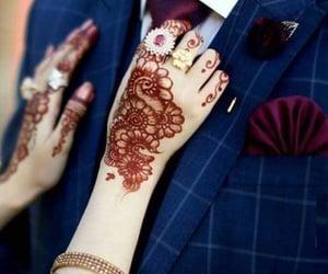 bride, couple, and heena image