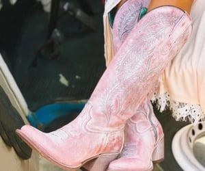cowboy boots, mode, and pink image