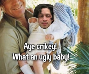 baby, ugly, and steve irwin image