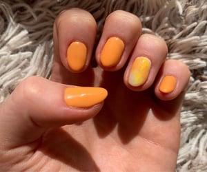 nails, nailsart, and orangenails image