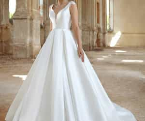 ball gown, wedding, and wow image