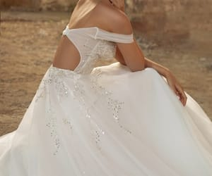 ball gown, wedding, and gown image