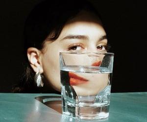 brown eyes, elegant, and reflection image