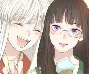 girls, yuri, and manhua image