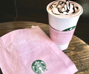 pink, starbucks, and pink aesthetic image