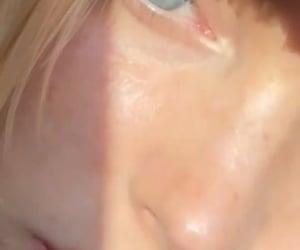 beauty, model, and blue eyes image