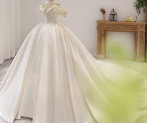 puffy short sleeve, ball gown, and off-the-shoulder image