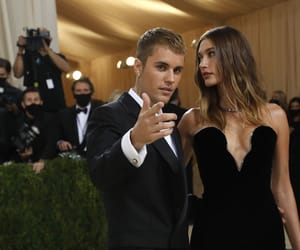 couple, hailey bieber, and justin bieber image