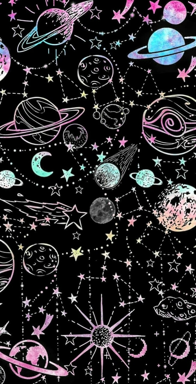 constellations, patterns, and starry image