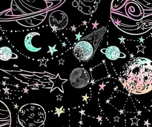constellations, shooting stars, and stars image