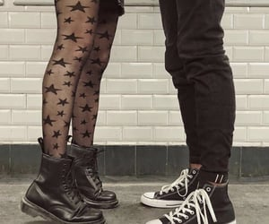 adorable, couple, and goth image