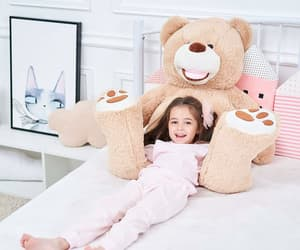 teddy bear, shopping, and toys image