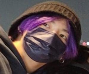 beanie, purple hair, and lq image