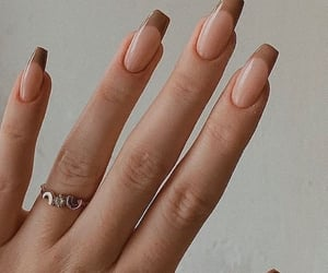 beauty, brown, and nails image