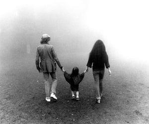 john lennon, sean lennon, and Yoko Ono image