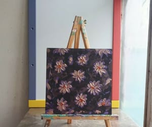 abstract art, acrylic daisy, and art for sale image