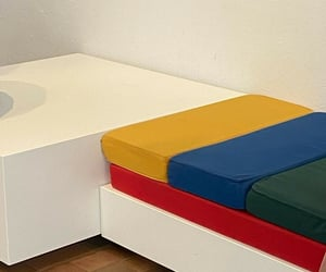 cushions, seats, and bench image