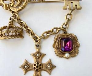 etsy, heraldic brooch, and heraldic pin image