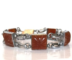 Czech glass, antique jewelry, and antique bracelet image