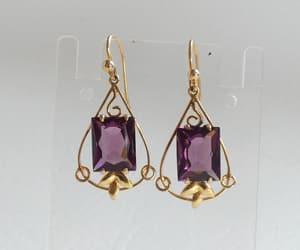 etsy, emerald earrings, and sapphire earrings image