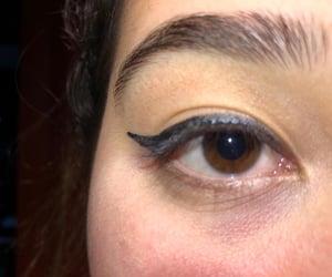 aesthetic, glitter, and eye image