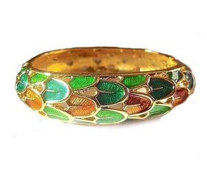 etsy, gold plate, and hinged bracelet image