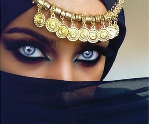 arab, beauty, and makeup image