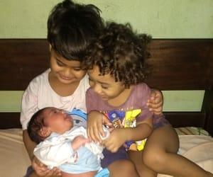 criancas, maternidade, and irmãos image