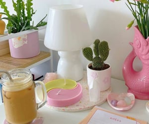 aesthetic, cactus, and coffee image