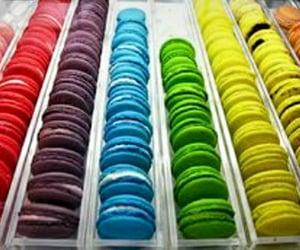 rainbow and macarons image
