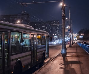 city, bus, and lights image