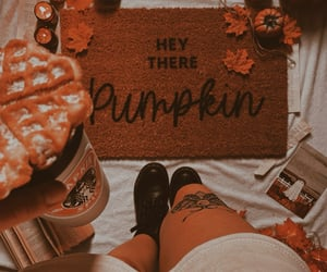 autumn, coffee, and Herbst image