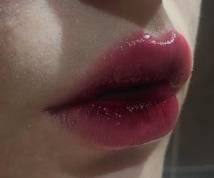 beauty, dark, and glossy lips image