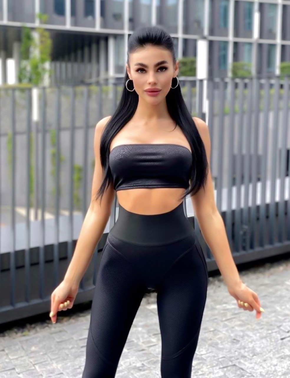 black, fashion, and fitness image