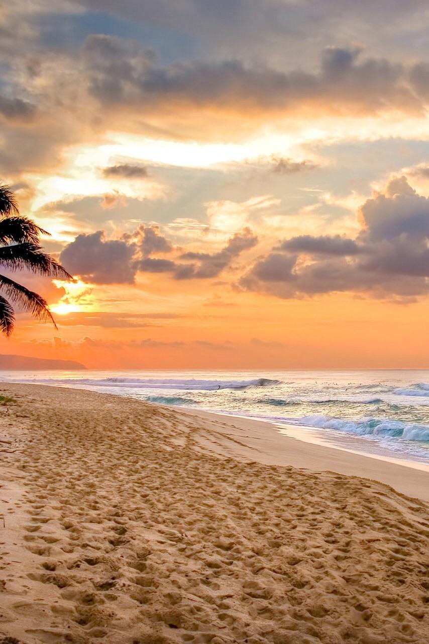 beach, sunset, and landscape image