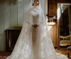 bride, lily collins, and wedding inspirations image