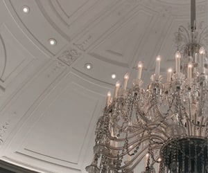 chandelier, decor, and decorations image
