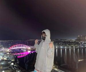 boys, city, and night image